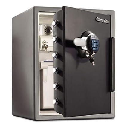 Sentry Safe SFW205GRC Electronic Water-Resistant Fire-Safe, 2.05 ft3, 19 3/10 x 19 3/8 x 23 7/8, Black (SENSFW205GRC)