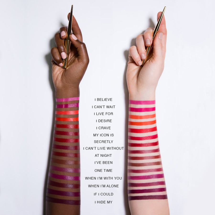 Hourglass Confession Ultra Slim High Intensity Refillable Lipstick Swatches