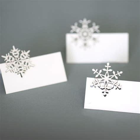 snowflakes place cards   plane paper   laser cut