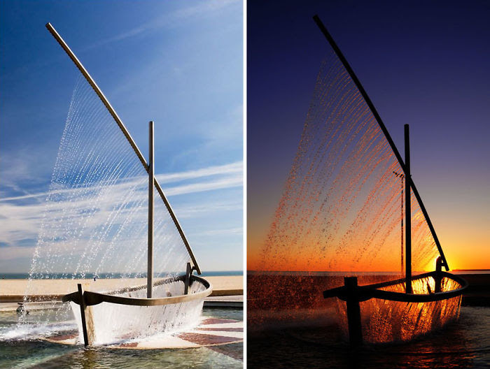 Fuente del barco de agua, Valencia, España