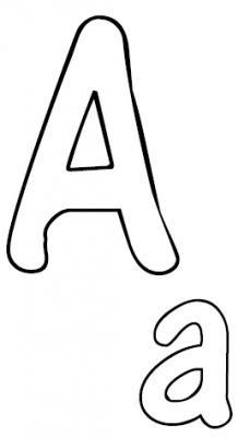 Malvorlagen Alphabet ABC | Buchstaben ausmalen ...