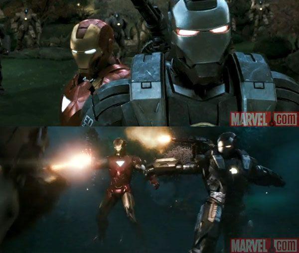 Screenshots from the IRON MAN 2 teaser trailer.