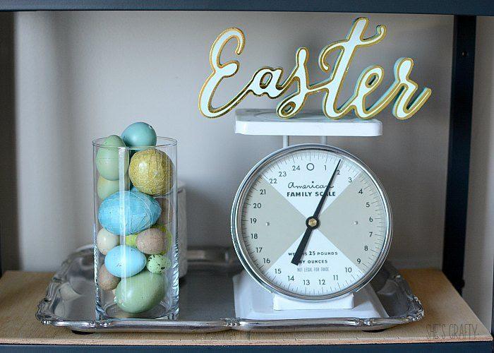 easter decor, vintage scale, egg