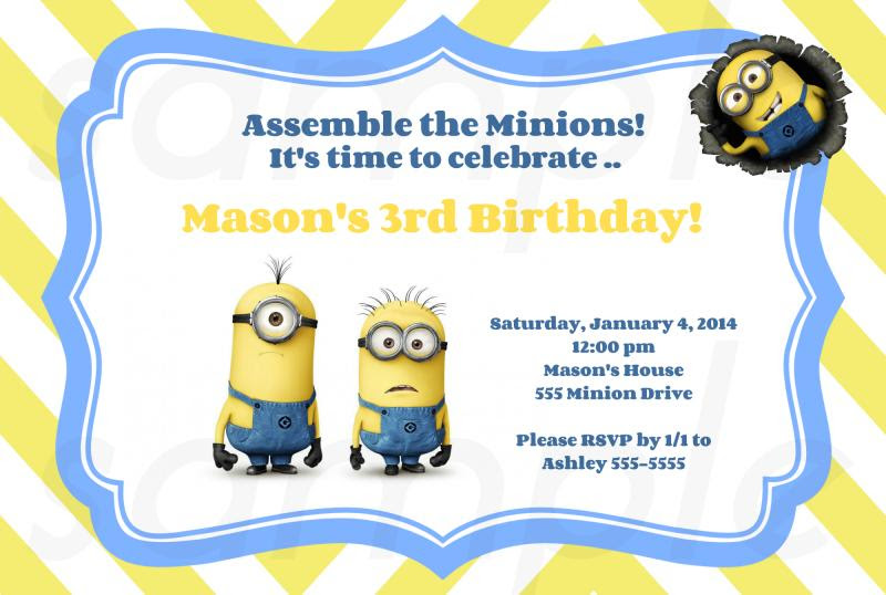 40th Birthday Ideas Birthday Invitation Template Minions