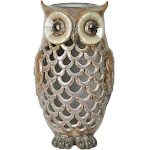 Moonrays 91581 Owl Solar Light - Tan