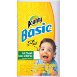 Bounty Basic White Paper 1-Ply Regular Towels - 1 count