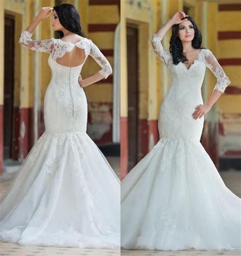 Princess Lace Mermaid Style Wedding Dresses 2016 Plus Size