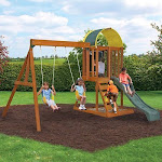 Cedar Summit Premium Play Ainsley Ready to Assemble Wooden Swing Set