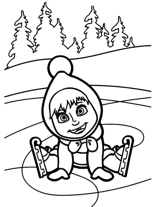 Dibujos Para Colorear Masha Y El Oso Dibujos Animados Auto