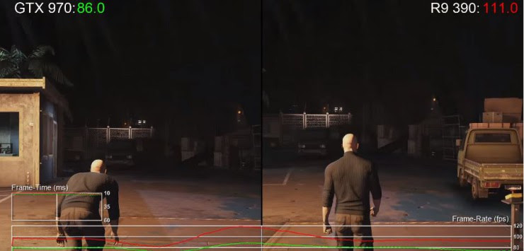 HITMAN Radeon R9 390 vs GeForce GTX 970