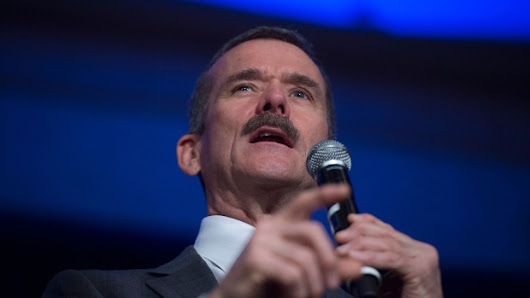 Astronaut Chris Hadfield issues prime directive: improve quality of life for all