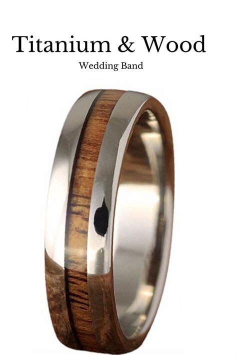 ideas  wood wedding bands  pinterest