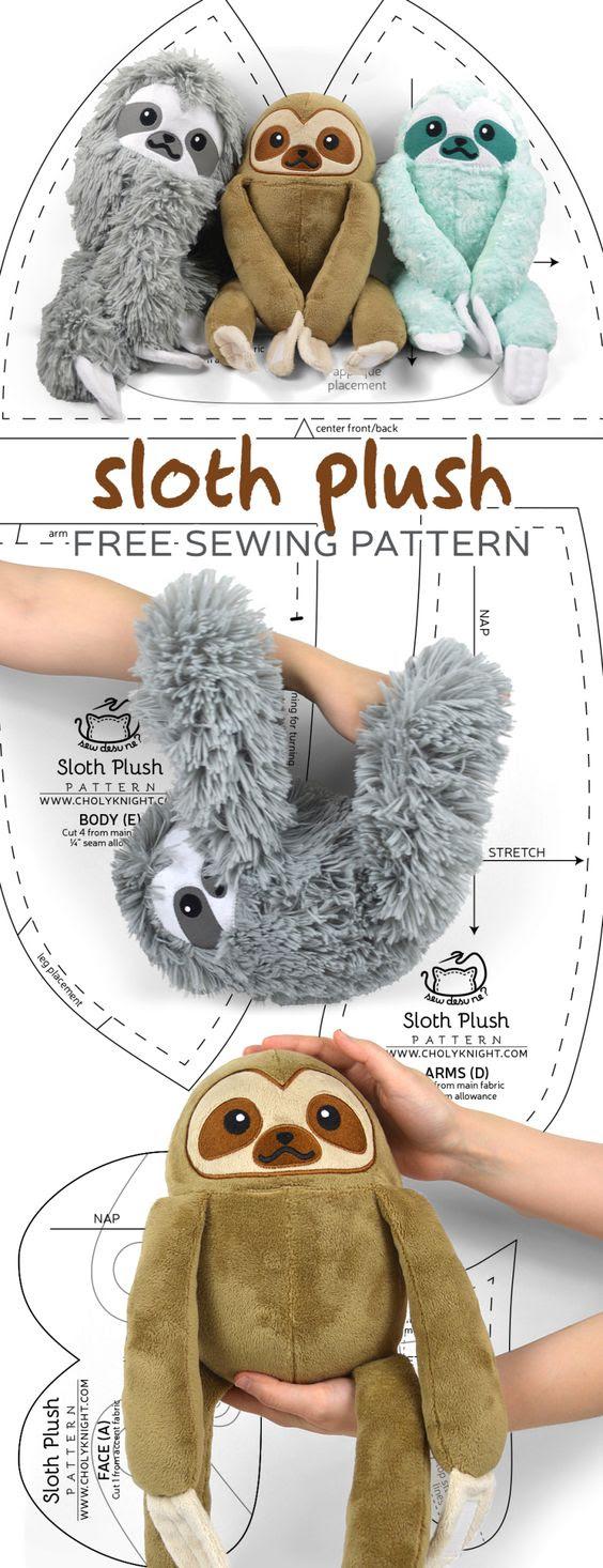 Free Plushie Patterns : plushie, patterns, Sewing, Pattern, Plush