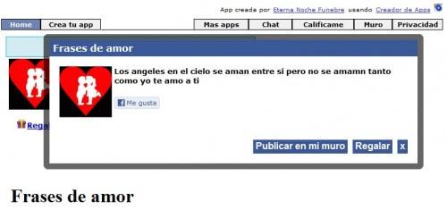 Aplicacion De Frases De Amor En Facebook Tecnologia Y Redes Sociales
