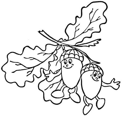 ausmalbild blatt kastanie - cartoon-bild