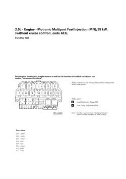 | Repair Guides | Fuel Systems (2001) | 2.0l - Engine