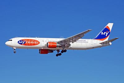 MyTravel Airways (UK) Boeing 767031K ER G-DAJC (msn 27206) LAS (Bruce Drum). Image: 100239.
