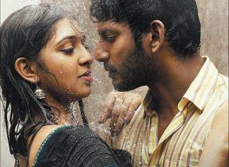 Lakshmi Menon feels for single take lip-lock (mouth kiss ... Naan Sigappu Manithan Lakshmi Menon Lip Lock