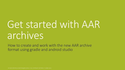 Get started with AAR