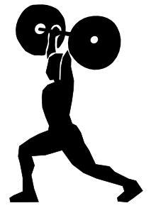 Weight Lifting 3 Clip Art