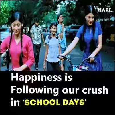 Happiness Is Following Our Crush In School Days Facebook Image Share
