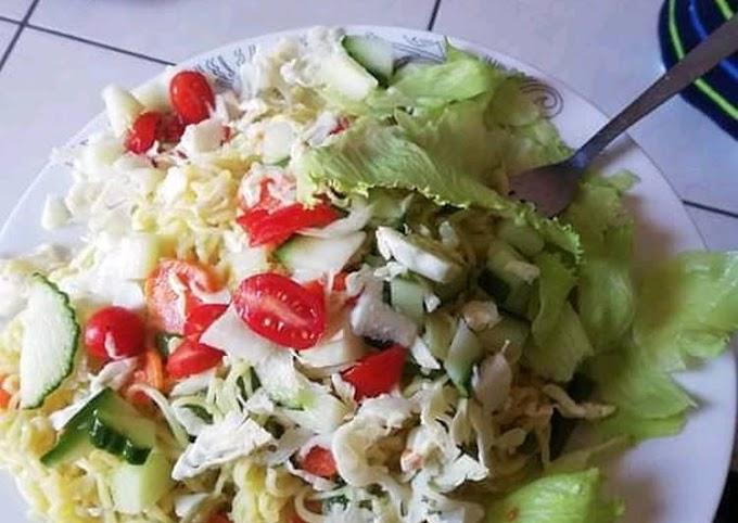 Steps to Prepare Favorite Simple Noodles Salad