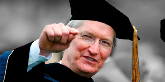 The question about 'grand strategy' that made Tim Cook unhappy on Apple's earnings call was based on a Harvard professor's theory that is uncomfortable reading for Apple