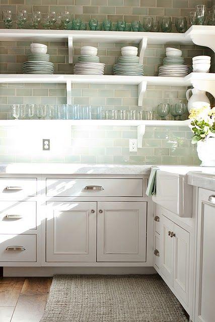 open shelving // white kitchen