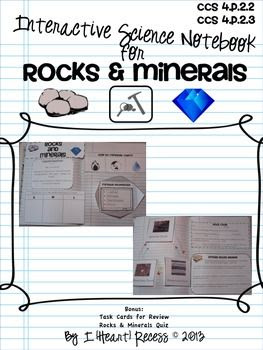 Rocks & MInerals Interactive Science Notebook