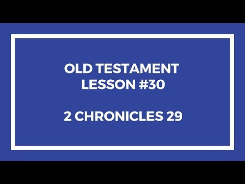 Old Testament Lesson 30 – Gospel Doctrine