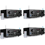 Pyle PTA24BT Bluetooth Home Audio 250W 2 Channel Amp Stereo Receiver (4 Pack) at Spreetail (VMinnovations   VM Express)