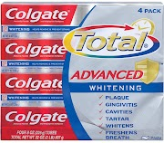 Colgate Total Advanced Toothpaste, 4-Pack, 8 oz