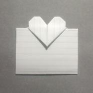 手紙の折り方ハート03 カード