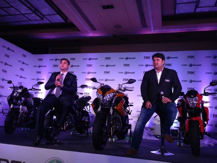 DSK Motowheels chairman Shirish Kulkarni with COO Shiva Ray