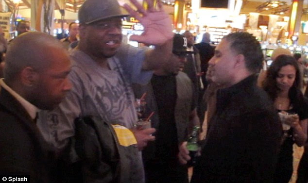Long day: Bobby Brown was spotted in the Moehegan Sun Casino hours after performing with New Edition on the evening of his ex-wife Whitney Hoston's funeral