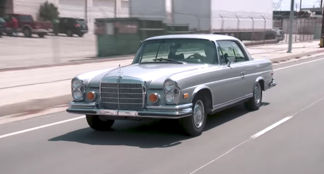 Jay Leno takes a classic Mercedes-Benz coupe out for a spin