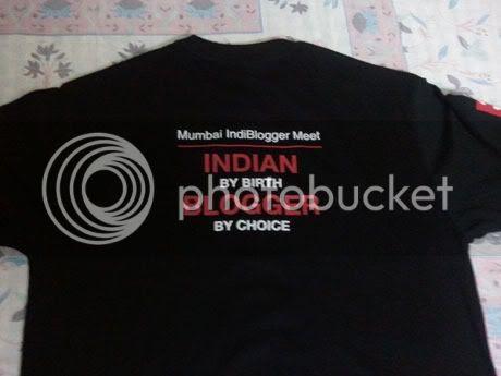 Indiblogger tee shirt
