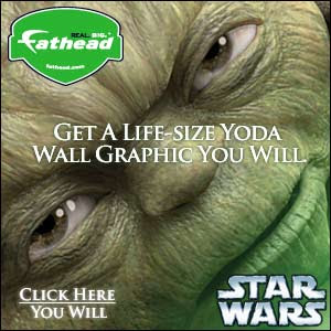 Get a life-size Yoda wall graphic you will
