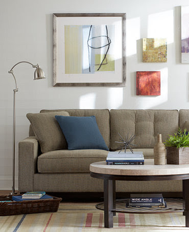 Clare Fabric Sofa Living Room Furniture Collection - Furniture