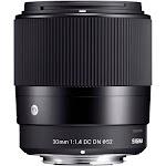 Sigma 30mm f/1.4 Contemporary DC DN Prime Lens for Sony E