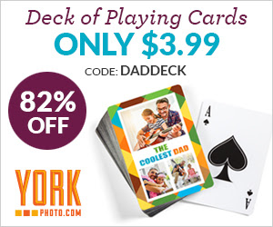Custom Photo Playing Cards  – Only $3.99 – Save $18!