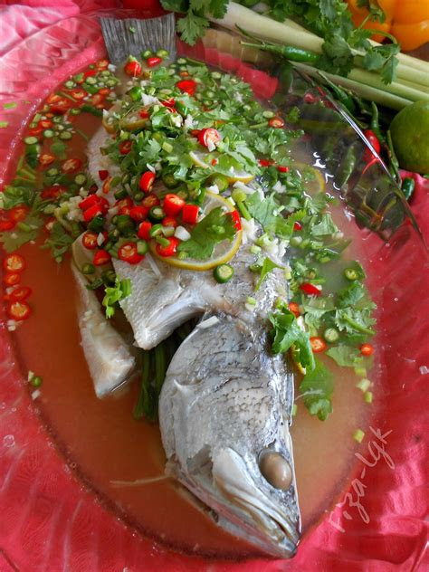 siakap kukus limau ala thai fizas cooking