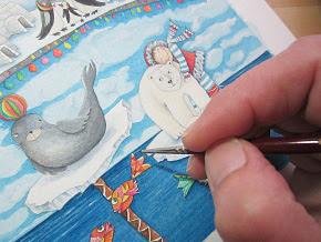 Eisland-Entwurf Aquarellbild