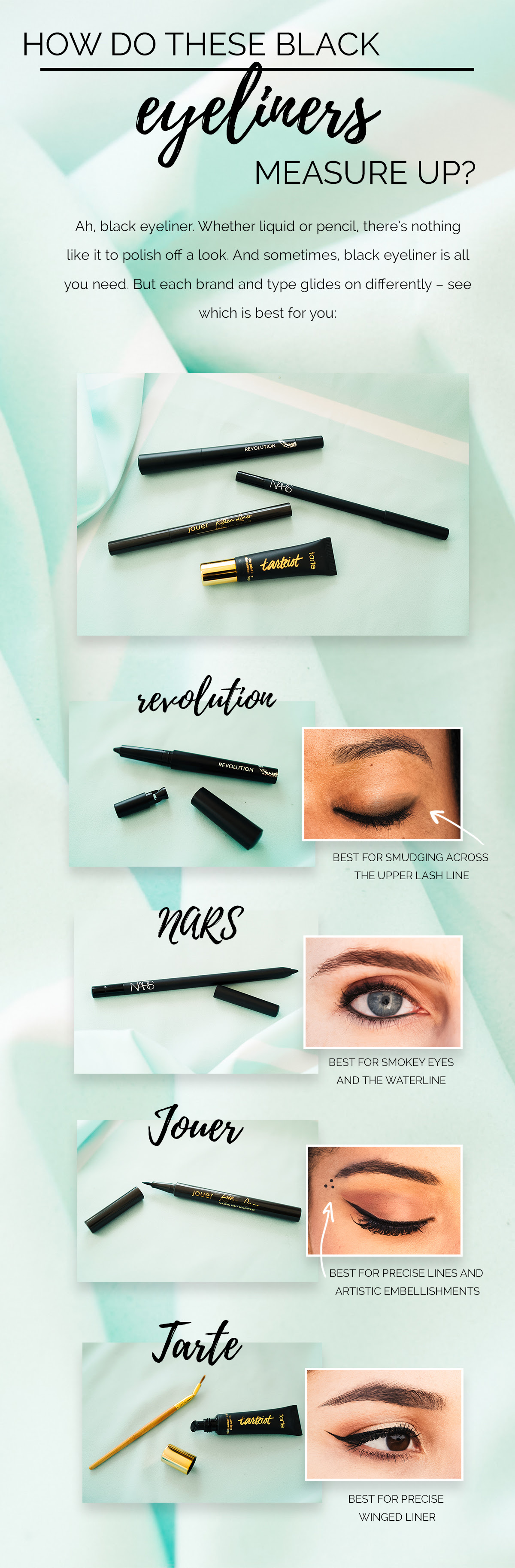 How to These Black Eyeliners Measure Up?