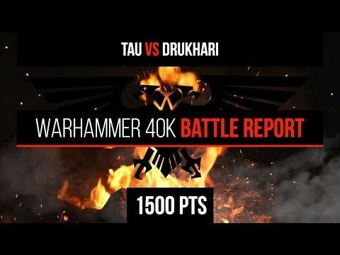 Warhammer 40k 8th Edition - Tau vs Drukhari 1500pts - Battle Report