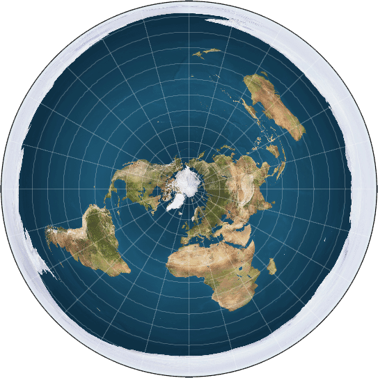 Model of a flat Earth