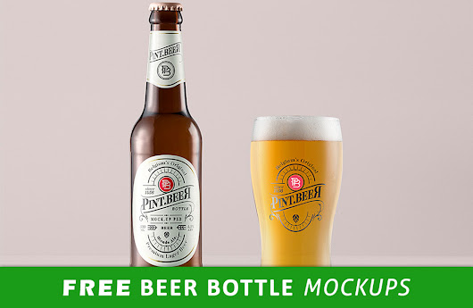 30+ Free Beer Bottle Mockup PSD Files To Download | Antara's Diary