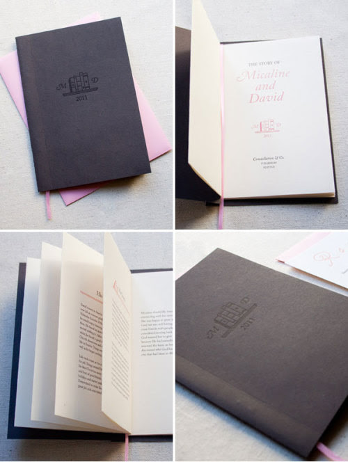 Storybook wedding invitations by Constellation Co
