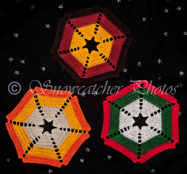 Candy Corn Snowflakes
