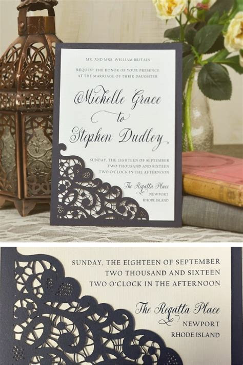 Laser Lace Wedding Invitation   Use this laser cut lace